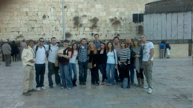 Group tour at the Kotel